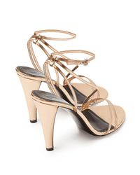 Isabel Marant Multicolor Arora Mirrored Leather Sandals