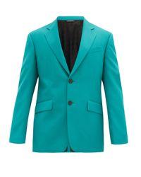 メンズ Givenchy ウールツイル シングルジャケット Blue