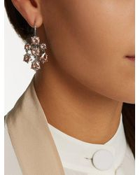 Bottega Veneta - Brown Chandelier Oxidised-silver Earrings - Lyst