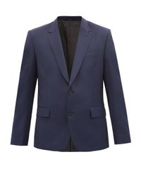 メンズ Paul Smith ウールモヘア シングルスーツジャケット Blue