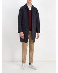 Prada Red V-neck Wool Sweater for men