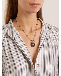 Etro Black Crystal-embellished Ladybird Pendant Necklace