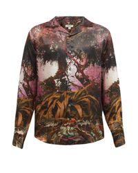 メンズ Phipps ハリウッド ツリープリント キュプラシャツ Multicolor