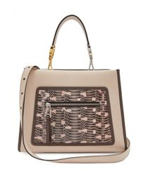 Fendi Pink Runaway Watersnake And Leather Bag