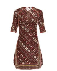 Isabel Marant - Multicolor Tacey Open-back Printed Dress - Lyst