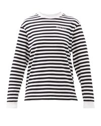 Bella Freud ボーダー オーガニックコットン ロングスリーブtシャツ Multicolor