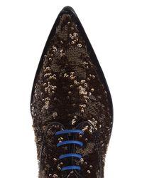 Delpozo - Multicolor Sequin Flatform Derby Shoes - Lyst