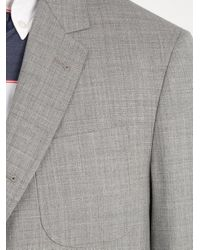 Thom Browne - Gray Shrunken Sack Wool Blazer for Men - Lyst