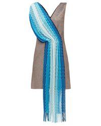 M Missoni ヴィンテージスカーフ ラメミニドレス Blue
