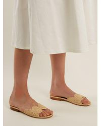 Carrie Forbes - Natural Naima Raffia Slides - Lyst