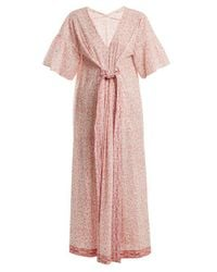 MASSCOB Pink Paisley-print Cotton Dress