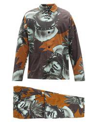 メンズ Undercover スタチュー&パーム オーバーシャツ&パンツ Multicolor