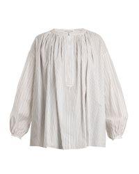 Sonia Rykiel Blue Striped Cotton Shirt