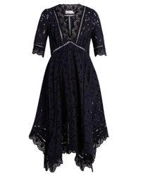 Zimmermann   Black Mariso Broderie-anglaise Dress   Lyst