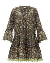 Robe en popeline de coton à imprimé fleuri Juliet Dunn en coloris Green