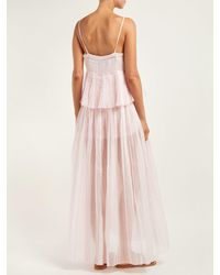 Thierry Colson Pink Chanderi Pleated Cotton And Silk-blend Dress
