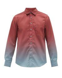 メンズ Sies Marjan Sander グラデーションシャツ Multicolor