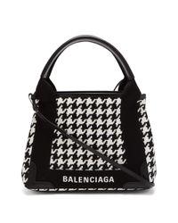 Balenciaga カバ Xs ハウンドトゥース バッグ Black