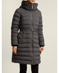 Burberry Gray Limehouse Shearling Trim Padded Coat
