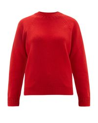 A.P.C. Red Janet Wool-blend Sweater
