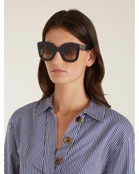 Céline Blue Marta Cat-eye Acetate Sunglasses