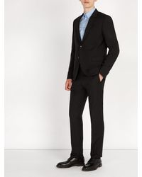 Dolce & Gabbana Black Wingtip Leather Derby Shoes for men