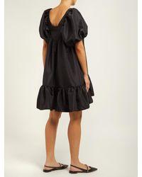 Robe courte en faille Renee CECILIE BAHNSEN en coloris Black