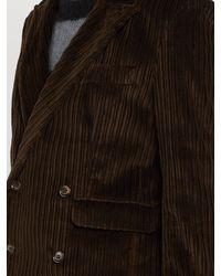 Veste en velours côtelé à double boutonnage Aries pour homme en coloris Brown