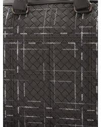 Bottega Veneta - Black Intrecciato Stitch-detail Leather Briefcase for Men - Lyst