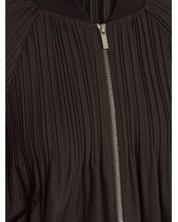 Pleats Please Issey Miyake Black Jaunty Pleated Bomber Jacket