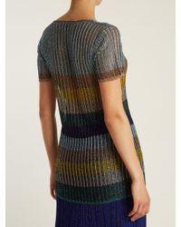 Missoni Multicolor V-neck Striped Sweater