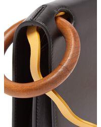 Roksanda Black Neneh Wave Strap Leather Cross Body Bag