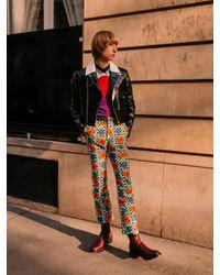 メンズ Paco Rabanne ポピー ストレートレッグ コットンブレンドパンツ Multicolor