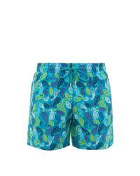 Vilebrequin Blue Moorea Paisley-print Swim Shorts for men