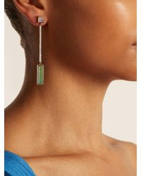 Jade Jagger - Green Diamond, Emerald & Yellow-gold Earrings - Lyst