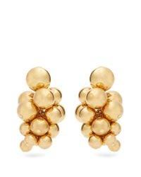 Oscar de la Renta | Metallic Sphere-embellished Cluster Clip-on Earrings | Lyst