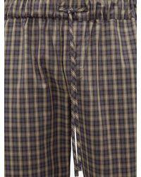 Pantalon de pyjama en popeline de coton à carreaux Hanro pour homme en coloris Gray
