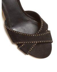 Dolce & Gabbana - Black Embellished Suede Sandals - Lyst