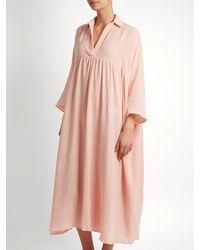 Rhode Resort Pink Leo Cotton-gauze Kaftan