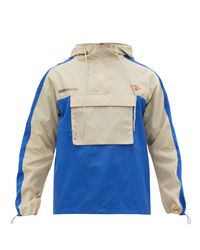 ADER ERROR Blue Colour-block Technical Jacket for men