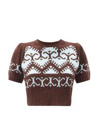 Joos Tricot ノルウェージャンニット クロップドセーター Multicolor