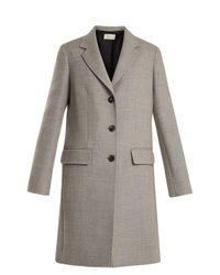 The Row Gray Amutto Notch-lapel Single-breasted Coat