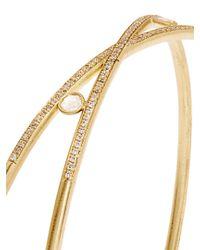 Susan Foster | Metallic Diamond & Yellow-gold Bangle | Lyst