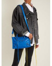 Balenciaga Blue Classic Metallic Edge City S Bag
