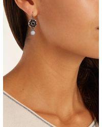 Bottega Veneta - Red Stone-embellished Sterling-silver Earrings - Lyst