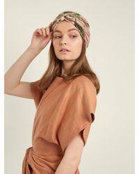 Adriana Degreas Multicolor Toucan-print Turban Headband