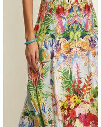 Camilla Green Miranda's Diary Silk Wrap Dress
