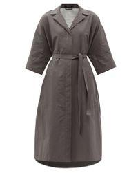 Joseph ドリタ コットンヘンプ シャツドレス Gray