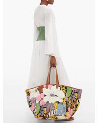 LaDoubleJ ビッグママ ショットコットン&レザーバッグ Multicolor