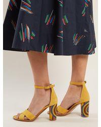 Gabriela Hearst Multicolor John Psychedelic-print Heel Suede Sandals